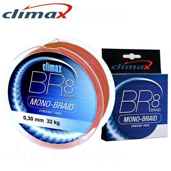 Плетёный шнур Сlimax BR8 Mono-Braid (красный) 135м 0,30мм 32.0кг (круглый)