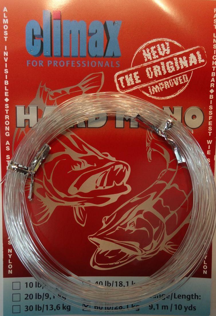 Поводочный материал Сlimax Hardmono Line (невидимый) 9,1м 13,6кг (для ловли хищника,вяжется)