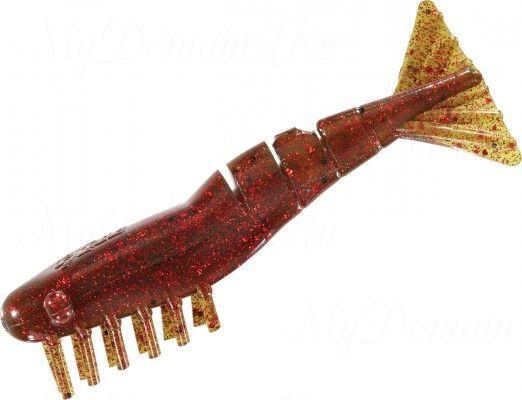 Креветки MISTER TWISTER Exude Shrimp 7 см. уп. 5 шт. 14RBK (съедобная, мангровый с красными блестками) фирменная упак. NEW