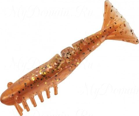 Креветки MISTER TWISTER Exude Shrimp 7 см. уп. 5 шт. NP (съедобная, коричневый с черными блестками) фирменная упак. NEW