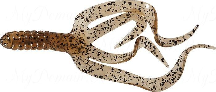 Твистер четыреххвостый MISTER TWISTER Split Double Tail 10 см уп. 20 шт. 11BKS (болотный с черными точками)