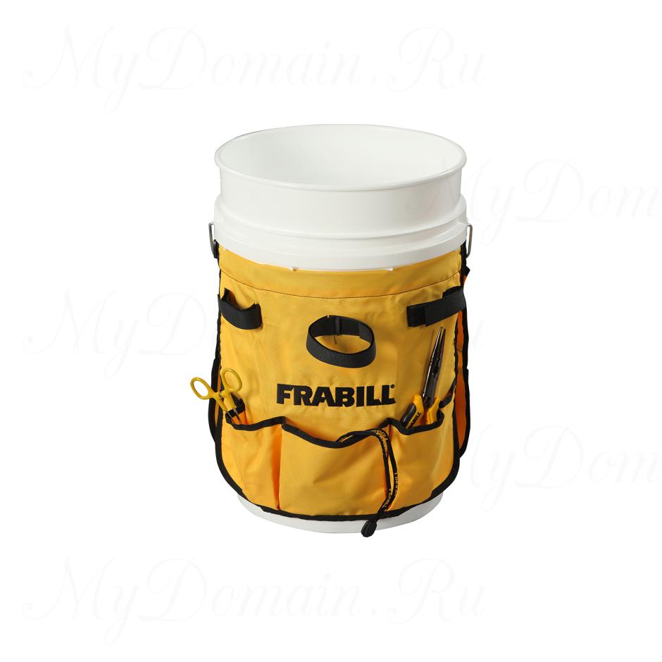 Насадка-фартук Frabill Pail Pak на ведро, для инструмента и принадлежностей, желтая (#1655)