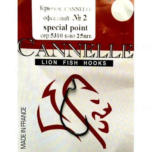Крючок офсетный Cannelle 5310 К № 2/0 уп. 100 шт. (ванадий,техасская система,кованный,сверх-легкий)