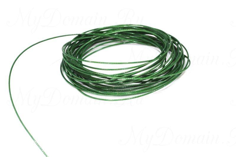 Поводочный материал Climax Toothy Critter (зеленый) 0,53мм 15,9 кг (стальной с полимерн.покрытием,вяжется и спаивается)