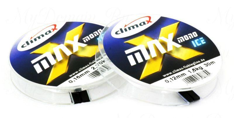 Леска Climax X-Max Mono Ice 0,10 мм 30 м 1,10 кг уп. 10 шт. (прозрачная)