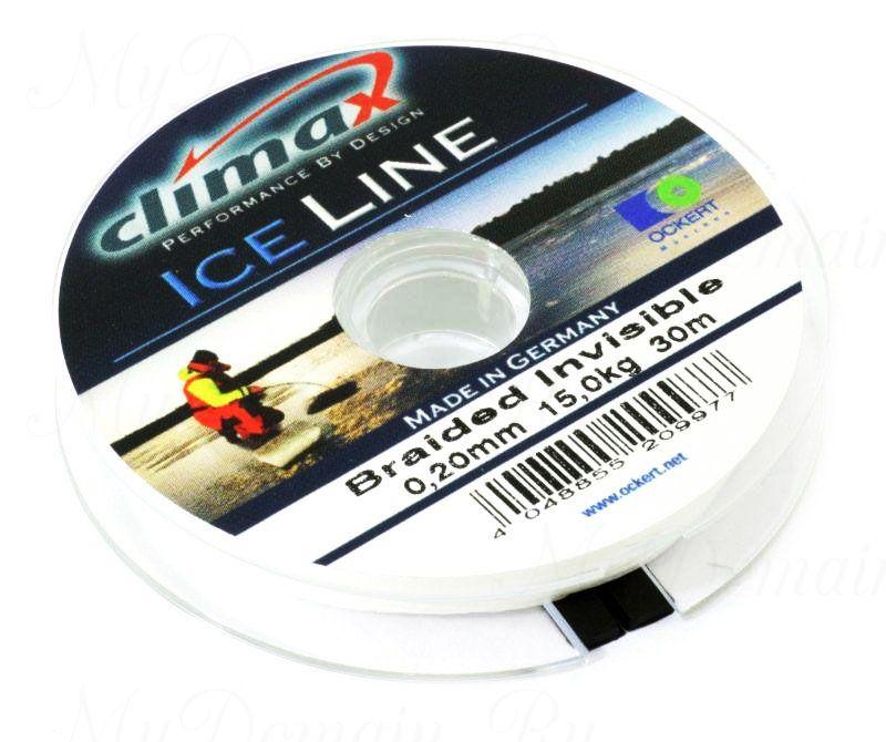 Плетеная леска Climax Ice Invisible 0.20 мм 30 м 10,4 кг. (невидимая)