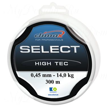 Леска Climax Select High Tec (голубая) 100 м 0,30 мм 6,5 кг (особо прочная на узлах)