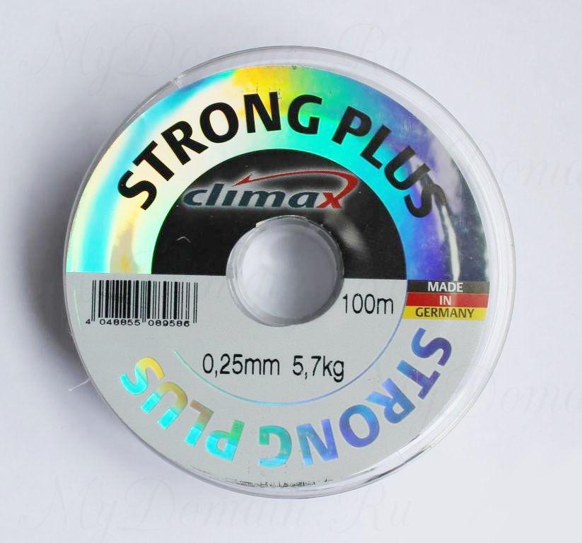 Леска Climax Strong Plus (прозрачная) 100 м 0,12 мм 1,5 кг уп. 10 шт.