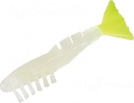 Креветки MISTER TWISTER Exude Shrimp 7 см. уп. 15 шт. LSST (съедобная, люминесцентный с лимонным хвостом) NEW
