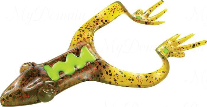 Лягушка MISTER TWISTER Hawg Frog 7 см уп. 20 шт. 14RBK (прозрачно-зеленый с черными крапинками и красными блестками)