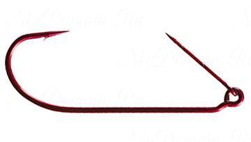 Офсетный крючок MISTER TWISTER незацепляйка Keeper worm hook Red № 2/0 уп.10 шт. (красный)