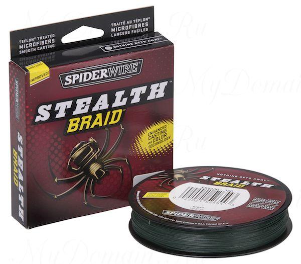 Плетеный шнур Spiderwire Stealth Green 274m 0,10mm 6.2kg