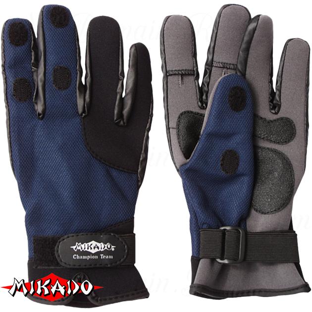 Перчатки рыболовные неопреновые Mikado UMR-04 размер L, шт