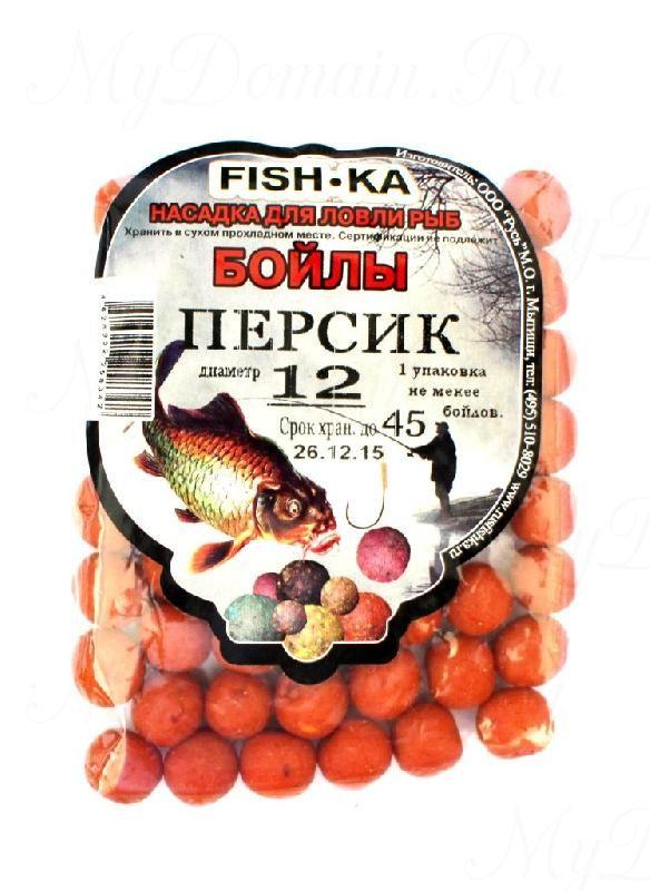 Бойлы FISH.KA (персик) диаметр 12 мм