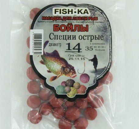Бойлы FISH.KA (специи острые) диаметр 18 мм