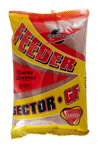 Прикормка GREENFISHING SECTOR-GF Feeder Плотва Шоколад, вес 1 кг