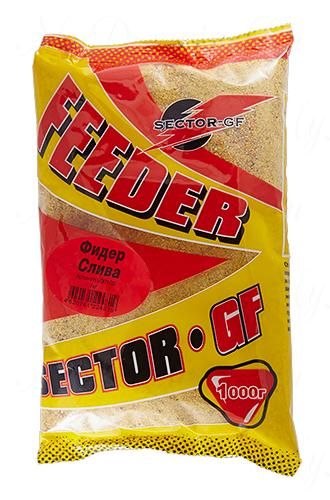 Прикормка GREENFISHING SECTOR-GF Feeder Слива, вес 1 кг