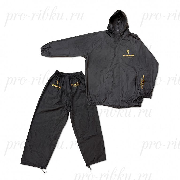 Дождевик (куртка + штаны) Browning Black Magic чёрный размер M